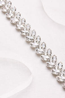 Marquise-Cut Crystal Leaf Sash