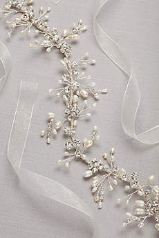 Freshwater Pearl and Crystal Wired Sash