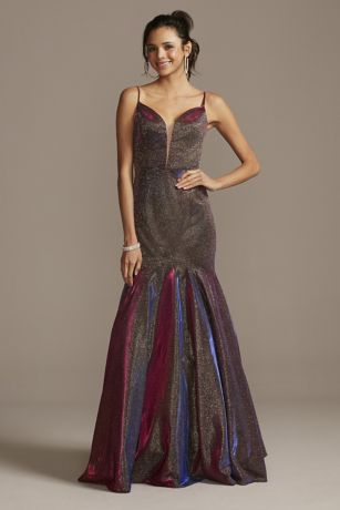Long Mermaid/Trumpet Spaghetti Strap Dress - Night Studio