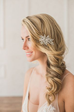 Marquise-Cut Crystal Spray Hair Clip
