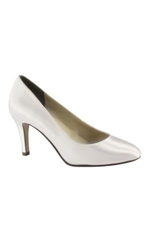 Touch Ups White (Dyeable Satin Almond Toe Pumps)