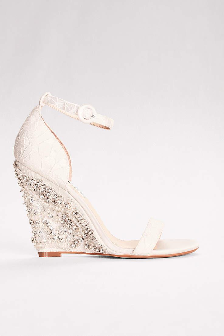 Women\'s Wedding Wedges: Silver, White, Black & More | David\'s Bridal