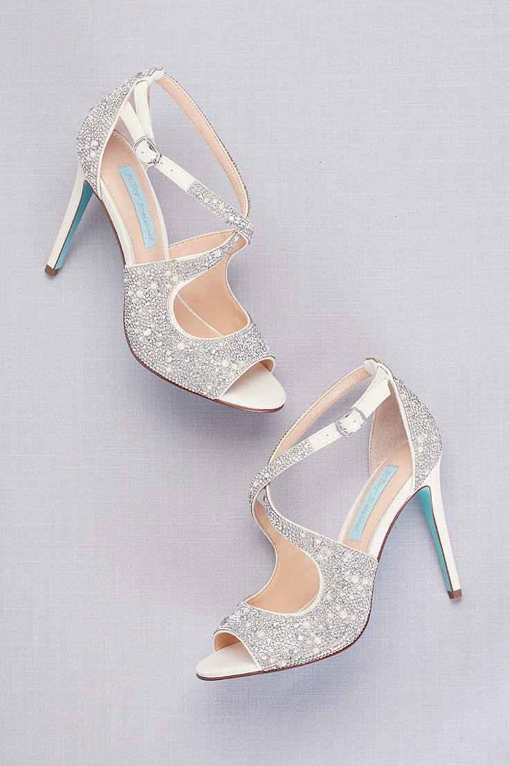 Peep Toe Shoes Wedges Heels Pumps David S Bridal