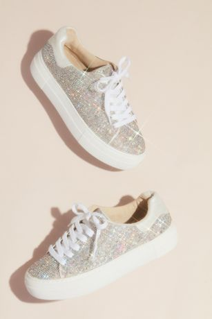 Betsey Johnson x DB Grey Sneakers and Casual (Sparkly Crystal Platform Sneakers)