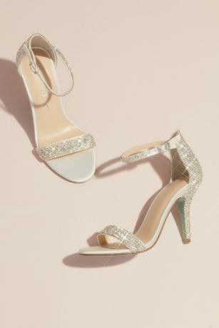 Betsey Johnson x DB Ivory Heeled Sandals (Jeweled Metallic Stiletto Sandals)