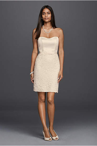 Ivory lace cap sleeve little white dress