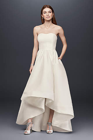 High Low Ballgown Beach Wedding Dress