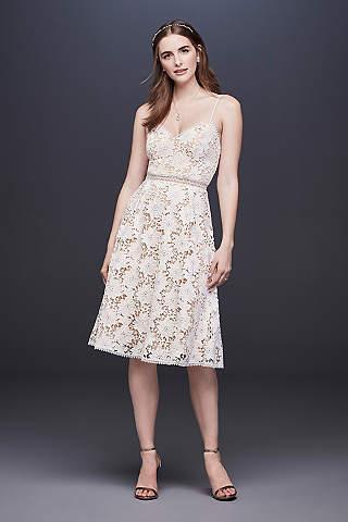 Short tea length wedding dresses davids bridal short a line boho wedding dress db studio junglespirit Gallery
