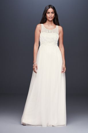 690387dc5966 Long Sheath Wedding Dress - DB Studio