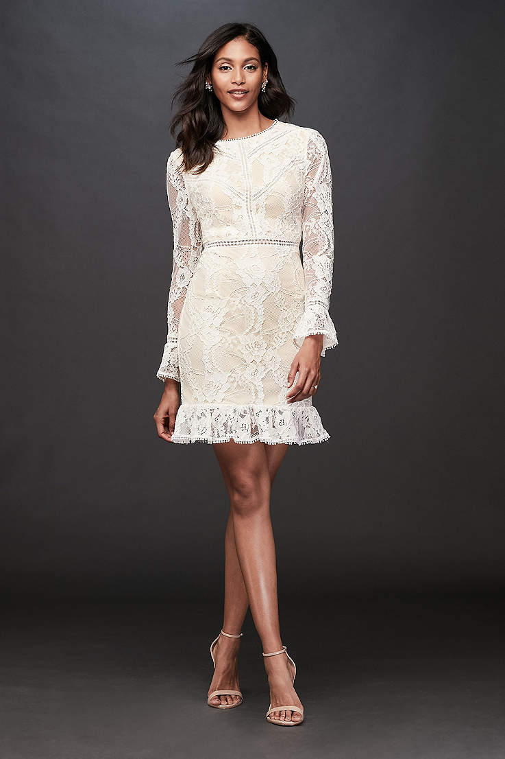 Casual Wedding Dresses Informal Bridal Wear David S Bridal,Long Sleeve Wedding Dresses Without Lace