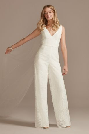 Long Jumpsuit Wedding Dress - DB Studio
