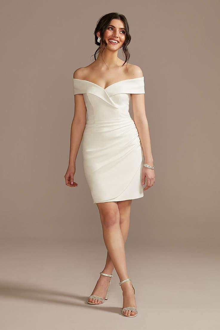 Little White Dresses in Various Styles & Lengths   David's Bridal