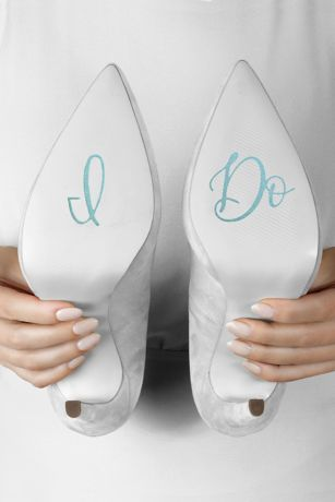 Blue Shoe Accessories (I Do Cursive Shoe Decals)