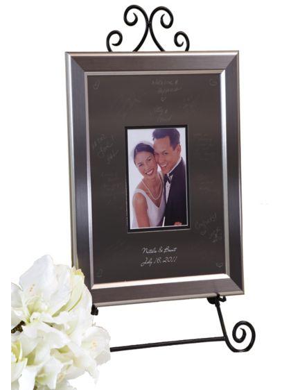 Personalized Signature Frame With Titanium Frame | David\'s Bridal