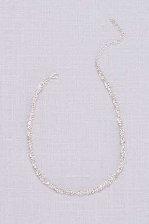 Twisted Pave Rhinestone Necklace