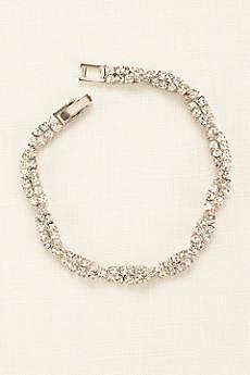 Twisted Pave Rhinestone Bracelet