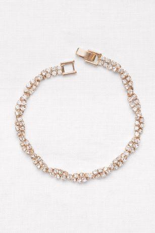 Dazzling Twisted Pave Rhinestone Bracelet