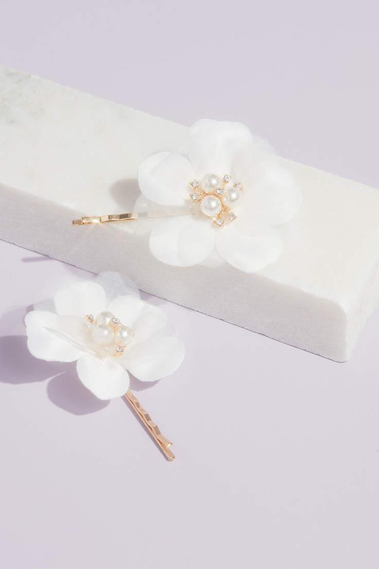 Wedding hair pin Bridal hair pin Hair accessories Red blue black pink crystal hair pin Ivory white pearlescent pearls Flower hair pin