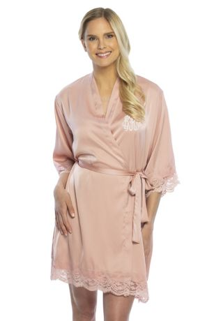 Personalized Satin Lace Robe
