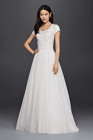 Modest Wedding Dresses & Gowns | David\'s Bridal