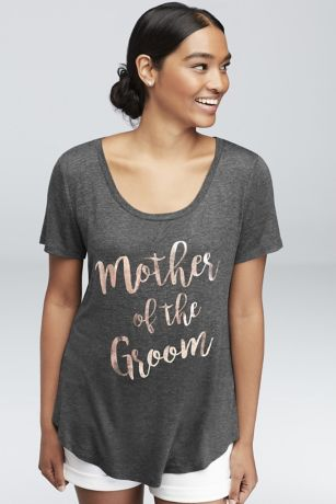 Rose Gold Foil Mother of the Groom Tee