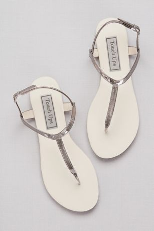 Touch Ups Beige;Grey (Simple Patent Thong Sandals)