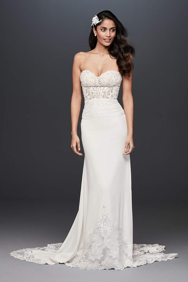76035dde Sheath & Form Fitting Wedding Dresses | David's Bridal