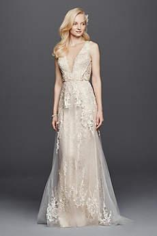 Long A Line Vintage Wedding Dress Galina Signature