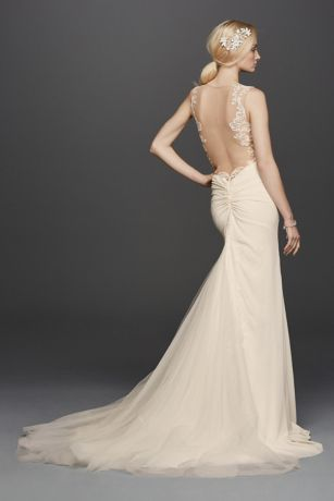 As-Is Beaded Wedding Dress with Illusion Details