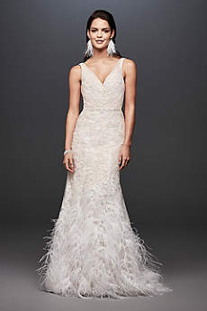 Mermaid trumpet wedding dresses davids bridal long mermaid trumpet glamorous wedding dress galina signature junglespirit Gallery