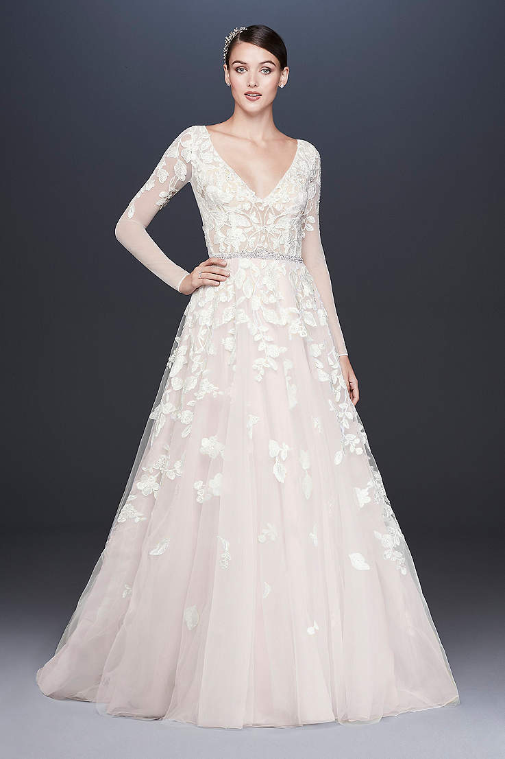 e6402dfac1 Long Sleeve Wedding Dresses & Gowns | David's Bridal