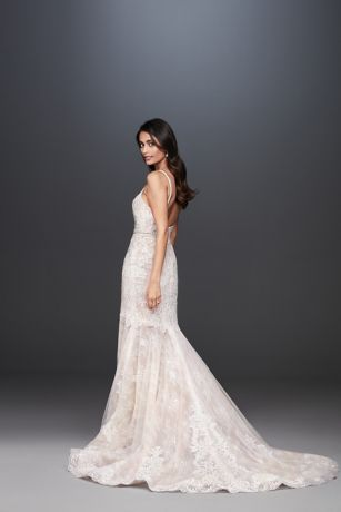 As Is Mermaid Wedding Dress with Moonstone Detail