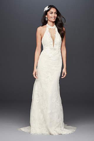 Long Sheath Wedding Dress petite