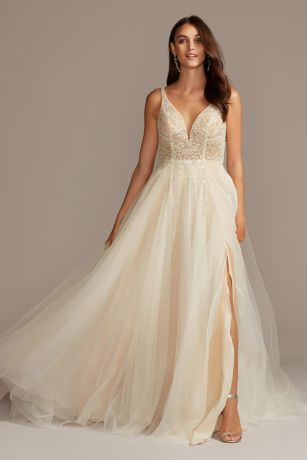 Soft & Flowy;Structured Galina Signature Long Bridesmaid Dress