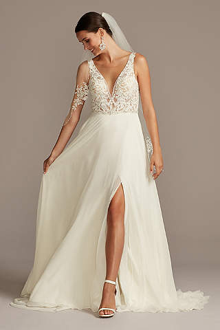 Chiffon Wedding Dresses And Gowns Davids Bridal