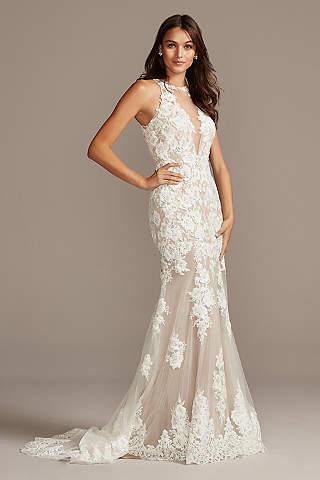 Illusion Neckline Wedding Dresses David S Bridal