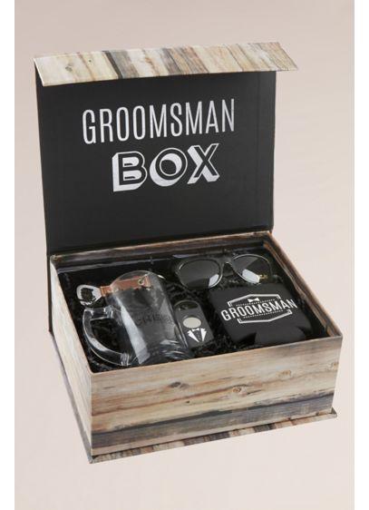 Groomsman Kit Gift Box - Includes beer mug, cigar cutter, keychain bottle opener,