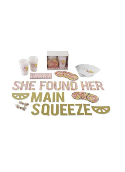 She Found Her Main Squeeze 49 piece Party Kit - Wedding Gifts & Decorations