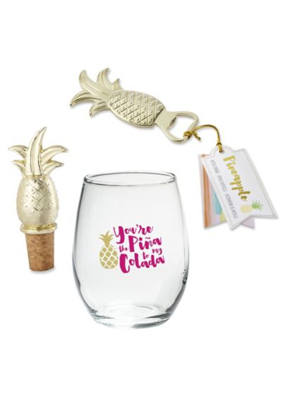 Pina Colada Wine Gift Set - Wedding Gifts & Decorations