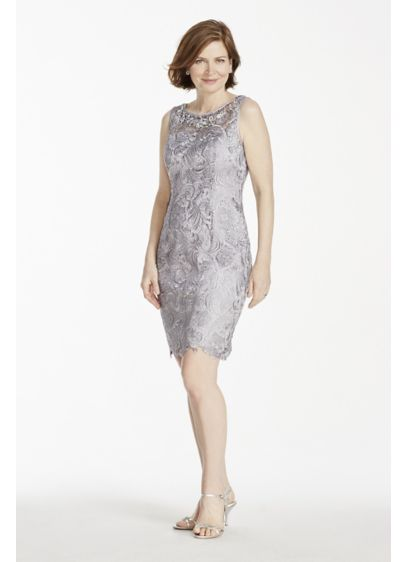 Short Sheath Tank Cocktail and Party Dress - Adrianna Papell