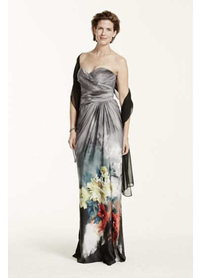 Long Sheath Strapless Cocktail and Party Dress - Adrianna Papell