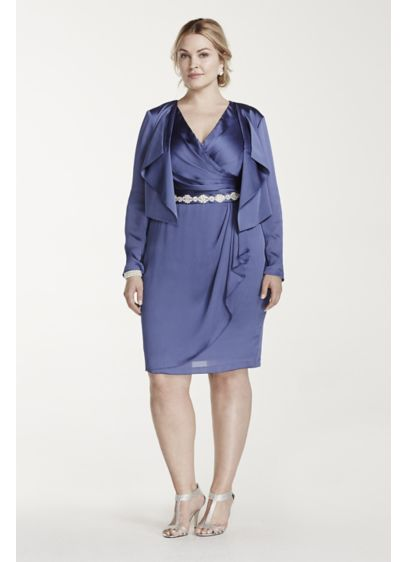 Short Sheath Jacket Cocktail and Party Dress - Adrianna Papell