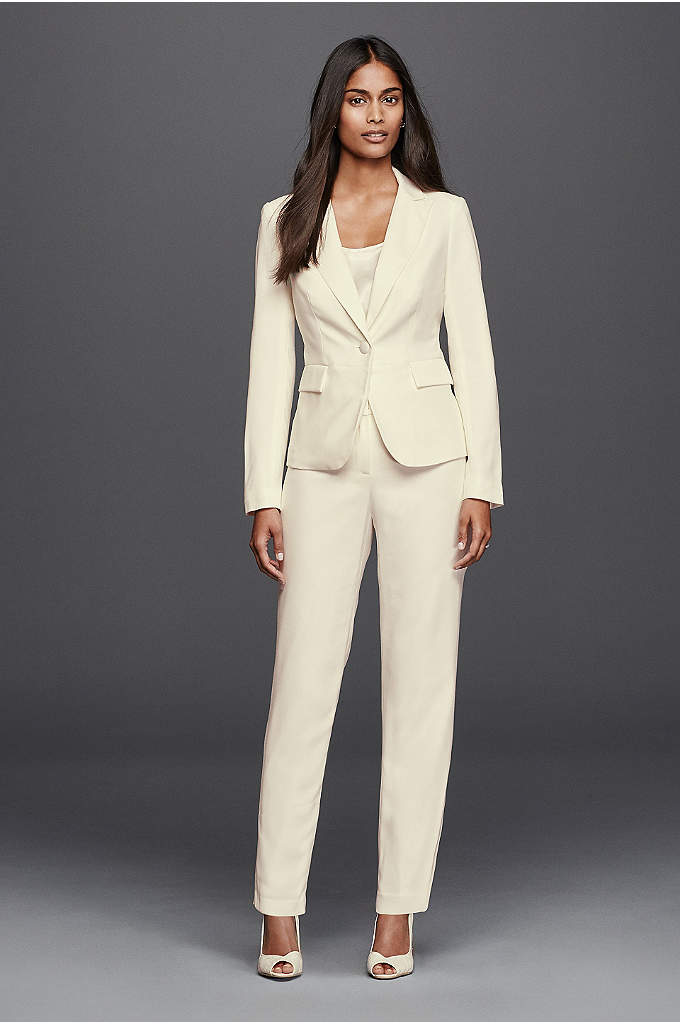 Straight Leg Pants - Strike a polished note in a tailored pantsuit.