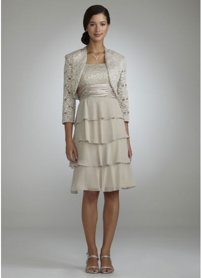 Short Sheath Cap Sleeves Cocktail and Party Dress - RM Richards