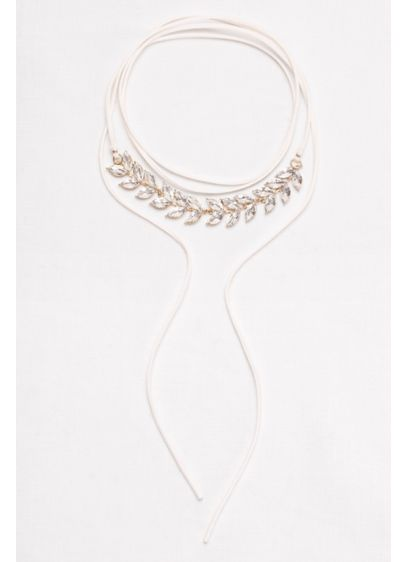 Leaf Stone Wrap Choker - Wedding Accessories