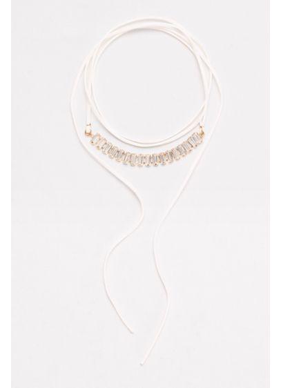 Baguette Stone Wrap Choker - Wedding Accessories