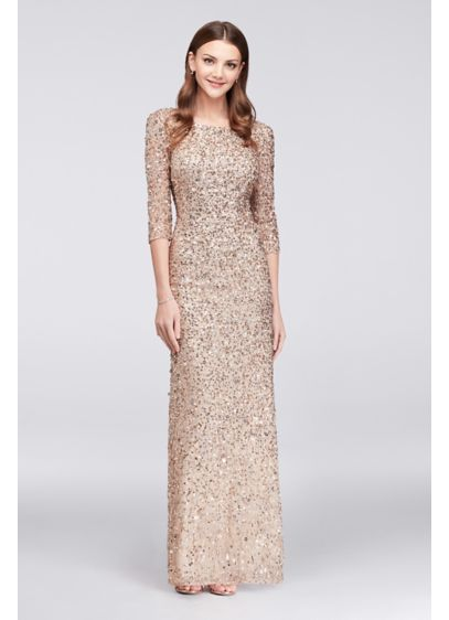 Long Sheath 3/4 Sleeves Formal Dresses Dress - Adrianna Papell