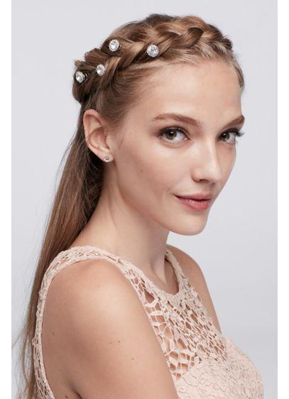 Solitaire Crystal Hair Spirals - Wedding Accessories