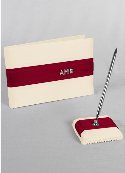 Exclusive Personalized Monogram Guest Book and Pen - Wedding Gifts & Decorations
