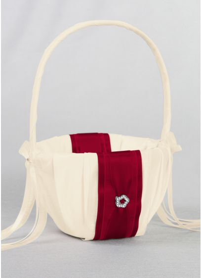 DB Exclusive Monogram Flower Girl Basket - Wedding Gifts & Decorations